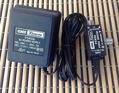 Ex-hoarder Sale Free Post  Kingray PSK08 17.5 V AC Power Supply For Booster/AMPL