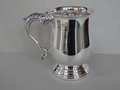 VINTAGE SOLID STERLING SILVER ONE PINT MUG / TANKARD - SHEFFIELD 1967 - 314g