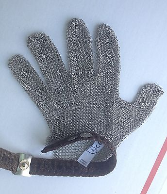 Chainmail Protective Glove CHAINEX 2000 Textile Strap Meat Processing Butchers