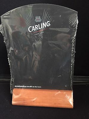 Carling Lager wooden  display Blackboard Home Bar Pub man cave