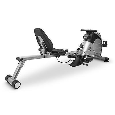 Capital Sports Rowbi 3-In-1 Ruder-Fahrrad-Ergometer Seilzugtrainer Silber