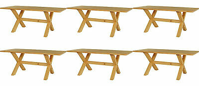 6 x NEW Solid Pine Rectangular Dining Tables *Rustic *Restaurant *Cafe *6ft