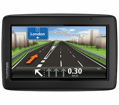 """TomTom Start 25 5"""" Sat Nav Western Europe with Lifetime Maps Rechargeable Black"""