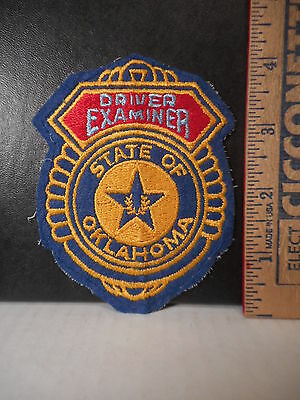 State Of Oklahoma Driver Examiner Shoulder Patch  21TB.