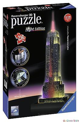 Empire State Building Night Edition Ravensburger 3D Jigsaw Puzzle 216 piece