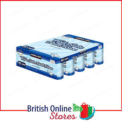 48 Toilet Rolls 3 Ply Kirkland Signature Triple Satin Tissue 260 Sheets Per Roll