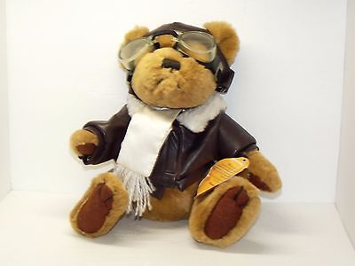 Brass Button Aviator Bear Pilot Cute Flying Ace