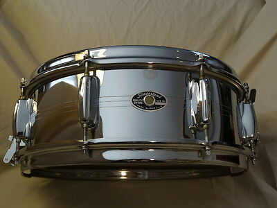 Slingerland mid-1970s 5x14 Gene Krupa COB snare w/case, stand and practice pad