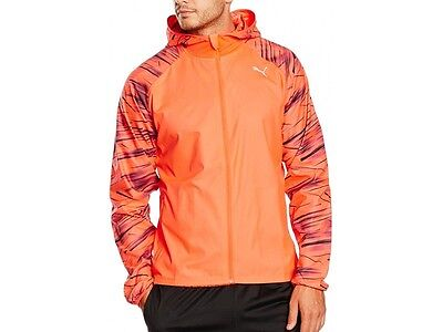Puma Nightcat Mens Light Wind Reflective Hi Viz Running Jacket Coat S M L Xl