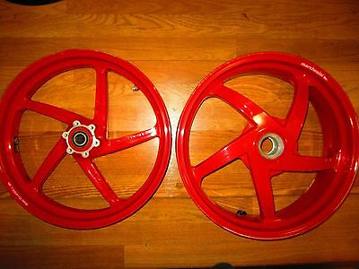 DUCATI oem SIENNA RED MARCHESSINI  Front & Rear Wheels 748-998 S4R S2R #2  CHEEP