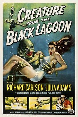 Creature from the black Lagoon 1954 Movie Film promo poster