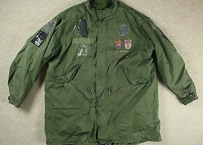 Vtg '76 Us Army M-65 Cold Weather Fishtail Parka W/ Liner Mod Scooter L/xl/xxl