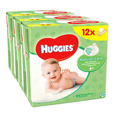 Huggies Natural Care Baby Wipes - 12 Packs (672 Wipes Total) 100%