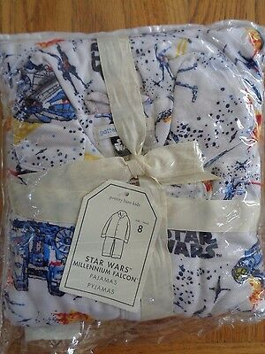 Pottery barn KIDS STAR WARS MILLENNIUM FALCON-SIZE 8~2 PIECE SET- NEW W/ TAGS