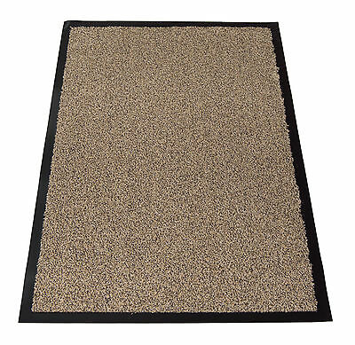 Hard Wearing Machine Washable Cotton Non-Slip Dirt-Barrier Office Door Floor Mat