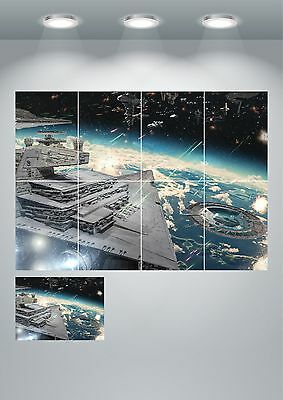 Star Wars Star Destroyer Wall Art Poster Print - A3/A4 Sections or Giant 1Piece