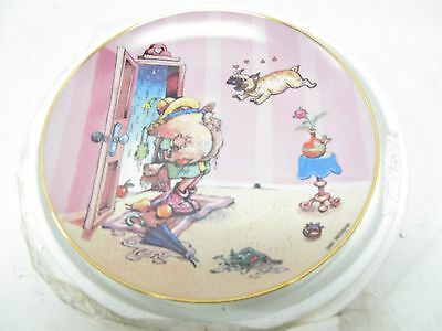 The Danbury Mint Collector Plate Patterson Pug Gary Patterson You're Home Le