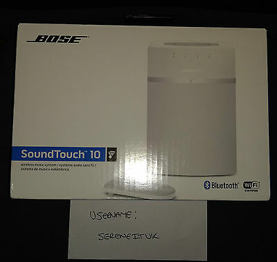 Bose SoundTouch 10 Wireless Music System - White NEW UK STOCK, LOWEST ££