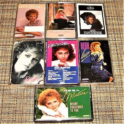 Lot of 7 cassettes REBA McENTIRE Live-Christmas-Broken Heart-Last One-What Am I+