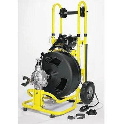 Speedway By Cobra Sewer Drain Machine 100 Ft 3/4 Cable 4 Pc Cutter Set St-650