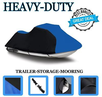 BLACK/BLUE YAMAHA VX 110 Deluxe / Sport Jet Ski PWC Cover up to 2014