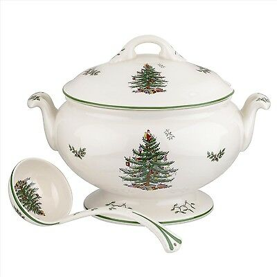 New Christmas Tree Footed Tureen & Ladle