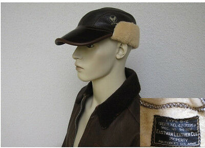 USAF B2 Eastman Pelle Cap Volo pecora Dimensioni 7 1/8 WWII US Airforce