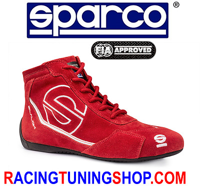 Sparco Slalom Rb3 Red Size 43 Racing Shoes Schuhe Rally Boots Fia 8856 2000