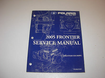 2005 Polaris Frontier Touring Snowmobile Service Manual with CD , p/n 9919305