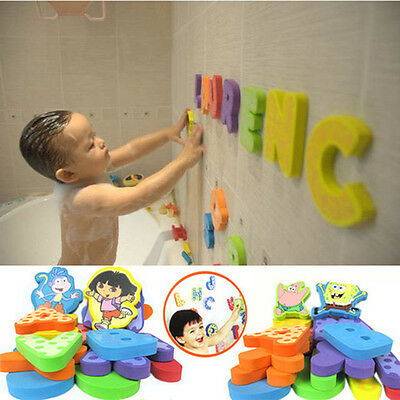 28 Pieces Munchkin Bath Learn Letters & Numbers Stick on Baby Bathroom Toy