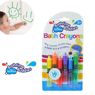 NEW Baby Toddler Washable Bath Crayons Bathtime Fun Play Educational Toy