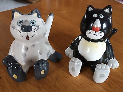 Adorable Cat Salt and Pepper Shakers
