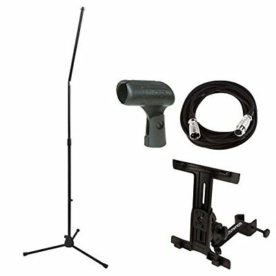 On Stage MS8301 Upper Rocker-Lug Mic Stand with holder + Mic Cable + Mic Clip