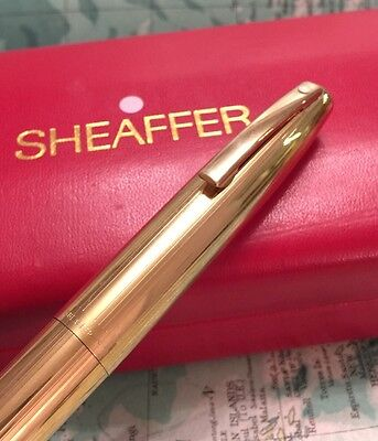 SHEAFFER GOLD PLATED IMPERIAL FOUNTAIN PEN-14Ct GOLD NIB-BOX-FREE UK POST!