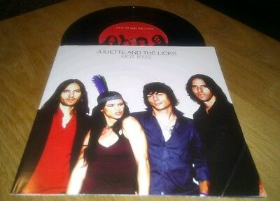 """JULIETTE AND THE LICKS Hot Kiss 7"""" Vinyl Single Excellent Condition Rare Record"""
