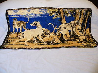 Vintage Deerhounds With Dead Game Tapestry Wall Hanging Rug