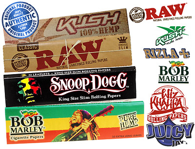 Kush Snoop Dogg Bob Marley Rolling Papers Mix and Match Buy 2 Get 1 Free Smoking