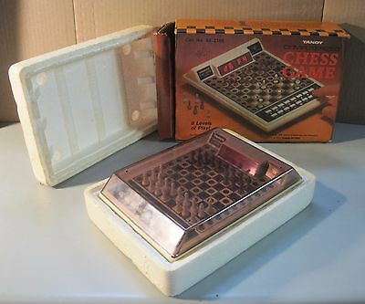 Vintage Radio Shack/Tandy Computerized Chess Game 8 Levels of Play in Box
