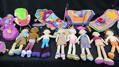 Groovy Girls Lot 8 Dolls Furniture and Accessories