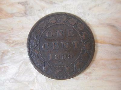 1890 Canadian Large Cent, Copper Penny, Victoria,  PX10