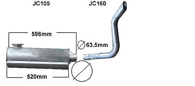 Jcb814     Exhaust Silencer And Tail Pipe (Brand New)