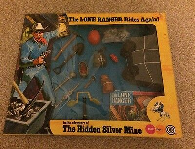 Marx Toys The Lone Ranger Rides Again The Hidden Silver Mine Set 1973
