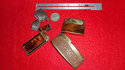 Vintage STRATTON LIGHTER ASSORTD LOT OF 4 one german 3 JAPAN 1 COLIBRI GOOD SET