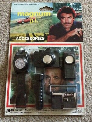 Magnum p.i. Accessory Set 1981 Made By Ja-ru Sealed On Card