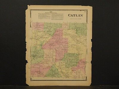 New York, Chemung County Map, 1869, Catlin Township, !Y3#65
