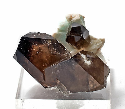 Smoky Quartz with Microcline - Hard-to-get Government Pit, NH Locality #4