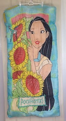 Vintage Disney Pocahontas Sunflower Twin Sleeping Bag With Travel Duffel