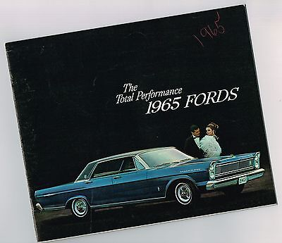 1965 Ford PERFORMANCE Brochure: FAIRLANE,GALAXIE 500,XL,CUSTOM,LTD,Station Wagon