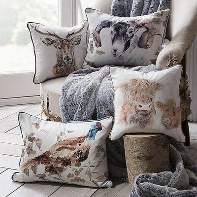 Gallery Direct Home Maison Stag Deer Scatter Cushion Voyage Animal