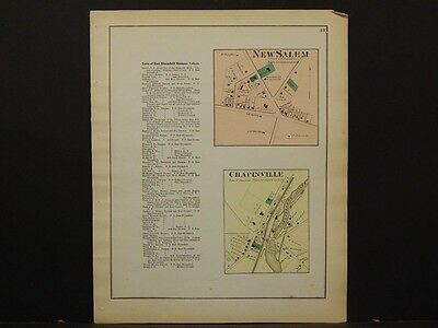 New York, Ontario County Map, 1874, New Salem, Chapinville, Y3#81